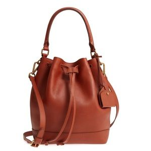 Madewell lafayette leather bucket bag